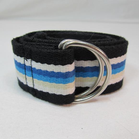"Accessories - 32"" Adjustable Unisex Belt White, Blue, Black"